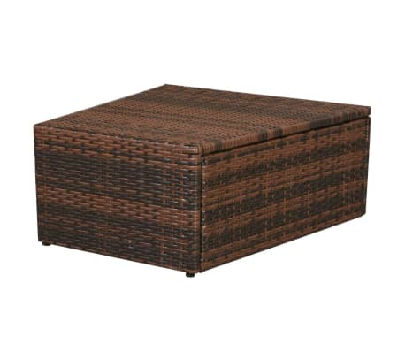 vidaxl sonnenliegen set modular 14 tlg poly rattan braun g nstig kaufen. Black Bedroom Furniture Sets. Home Design Ideas