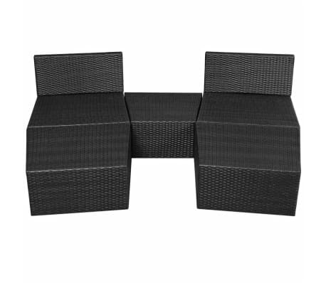 vidaxl sonnenliegen set modular 14 tlg poly rattan schwarz g nstig kaufen. Black Bedroom Furniture Sets. Home Design Ideas
