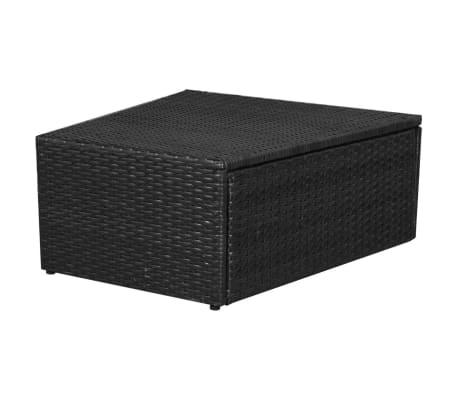 vidaXL 5-delige Loungeset met kussens poly rattan zwart[11/14]