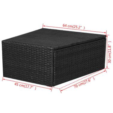 vidaXL 5-delige Loungeset met kussens poly rattan zwart[14/14]