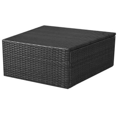 vidaXL 5-delige Loungeset met kussens poly rattan zwart[10/14]