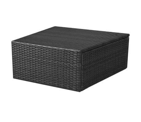 vidaXL 8 Piece Garden Lounge Set with Cushions Poly Rattan Black[8/12]