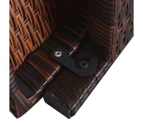 vidaxl sonnenliege mit auflage klappbar poly rattan braun g nstig kaufen. Black Bedroom Furniture Sets. Home Design Ideas