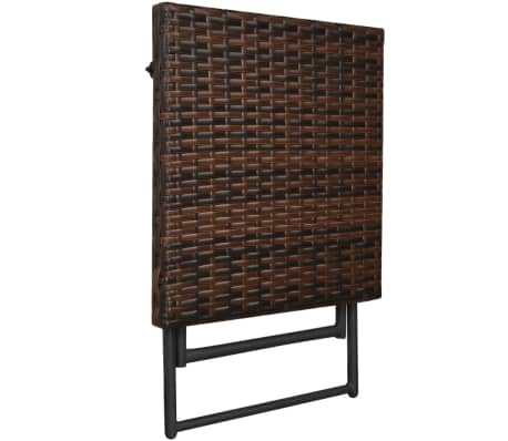 vidaxl sonnenliegen set klappbar 5 tlg poly rattan braun. Black Bedroom Furniture Sets. Home Design Ideas
