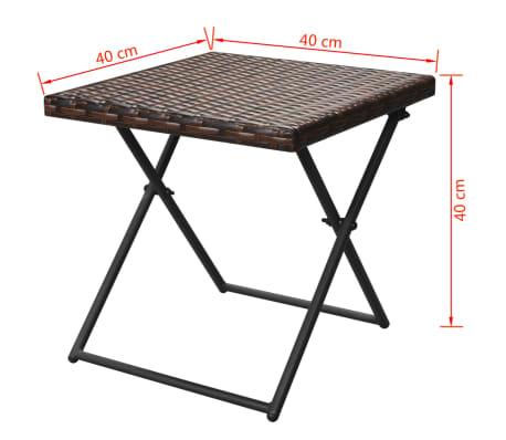 vidaxl sonnenliegen set klappbar 5 tlg poly rattan braun. Black Bedroom Furniture Sets. Home Design Ideas