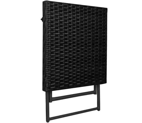 vidaxl sonnenliegen set klappbar 5 tlg poly rattan schwarz g nstig kaufen. Black Bedroom Furniture Sets. Home Design Ideas