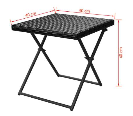 vidaxl sonnenliegen set klappbar 5 tlg poly rattan. Black Bedroom Furniture Sets. Home Design Ideas