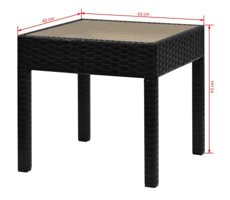 vidaXL Bistrosett 3 deler polyrotting svart[9/9]