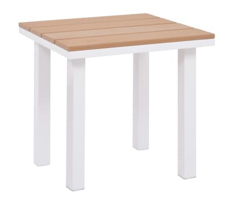 vidaXL Solseng med bord aluminium og WPC brun[5/11]