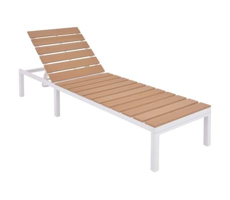 vidaXL Solseng med bord aluminium og WPC brun[6/11]
