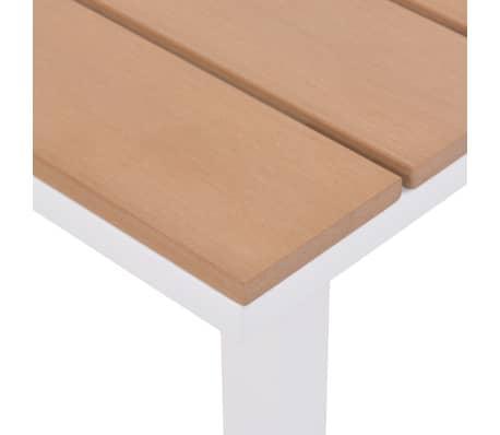 vidaXL Solseng med bord aluminium og WPC brun[9/11]
