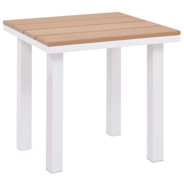 vidaXL Ligbed met tafel aluminium HKC bruin[5/11]