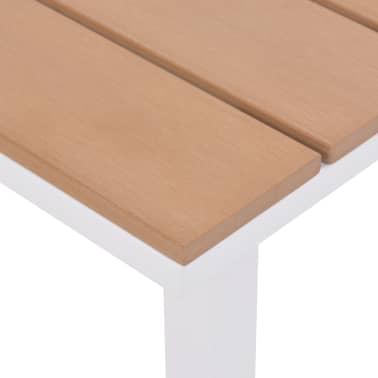 vidaXL Ligbed met tafel aluminium HKC bruin[9/11]