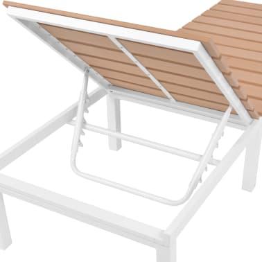 vidaXL Ligbed met tafel aluminium HKC bruin[10/11]