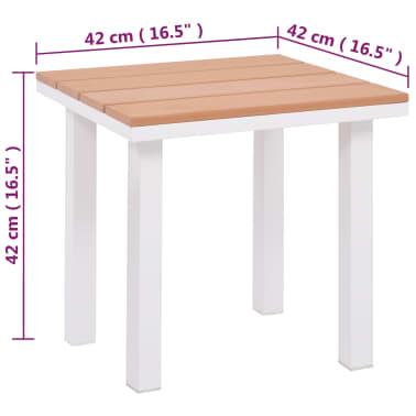 vidaXL Ligbed met tafel aluminium HKC bruin[11/11]