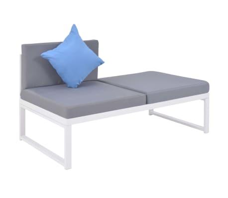 vidaXL 5-dielna záhradná sedacia súprava s vankúšmi hliník a WPC[7/12]