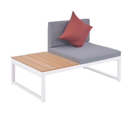 vidaXL 5-dielna záhradná sedacia súprava s vankúšmi hliník a WPC[8/12]