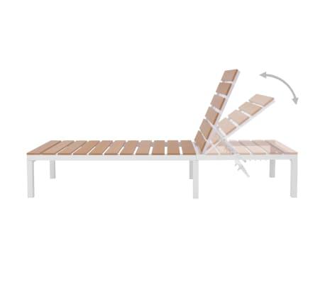 vidaXL 5-daļīgs dārza atpūtas mēbeļu komplekts, matrači, alumīnijs,WPC[10/12]