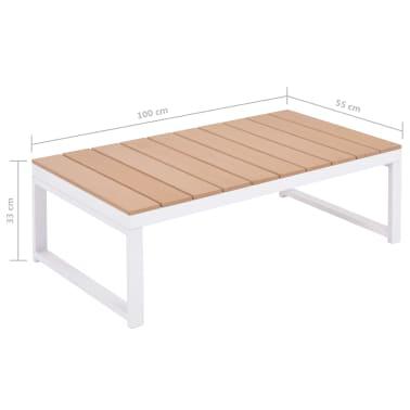 vidaXL 5-daļīgs dārza atpūtas mēbeļu komplekts, matrači, alumīnijs,WPC[11/12]