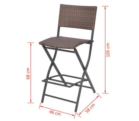 Acheter vidaxl mobilier d 39 ext rieur 5 pcs marron r sine for Mobilier exterieur resine