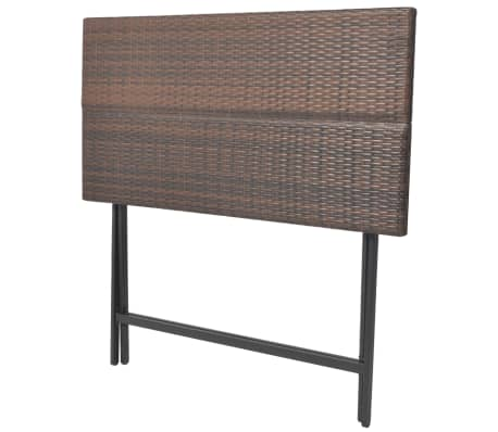 vidaxl garten essgruppe 7 tlg poly rattan braun g nstig kaufen. Black Bedroom Furniture Sets. Home Design Ideas
