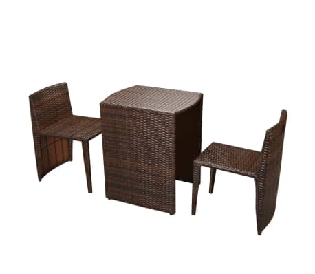 vidaxl garten essgruppe 5 tlg poly rattan braun g nstig kaufen. Black Bedroom Furniture Sets. Home Design Ideas