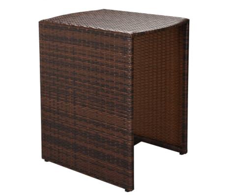 vidaxl garten essgruppe 5 tlg poly rattan braun g nstig kaufen. Black Bedroom Furniture Sets. Home Design Ideas