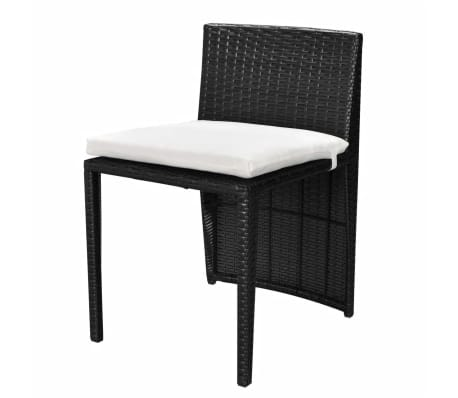 acheter vidaxl mobilier de jardin 5 pcs noir r sine. Black Bedroom Furniture Sets. Home Design Ideas