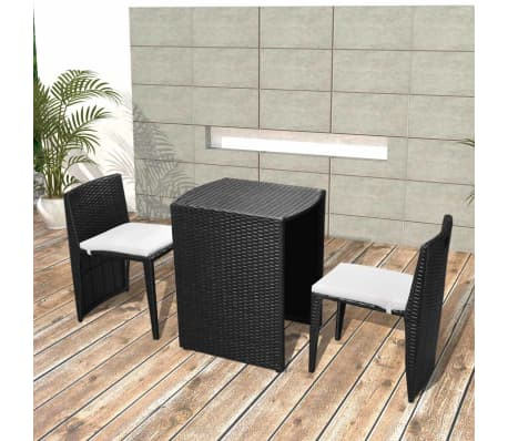 vidaxl garten essgruppe 5 tlg poly rattan schwarz g nstig kaufen. Black Bedroom Furniture Sets. Home Design Ideas