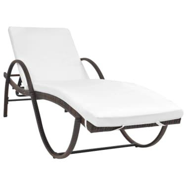 acheter vidaxl chaise longue r sine tress e marron pas cher. Black Bedroom Furniture Sets. Home Design Ideas