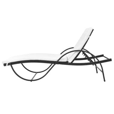 Acheter vidaxl chaise longue r sine tress e noir pas cher - Chaise longue resine tressee ...