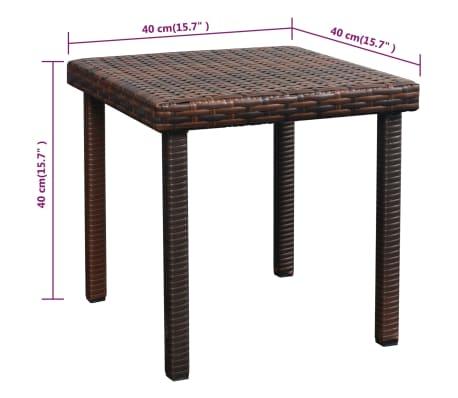 vidaXL Chaise longue avec coussin et table Résine tressée Marron[11/11]