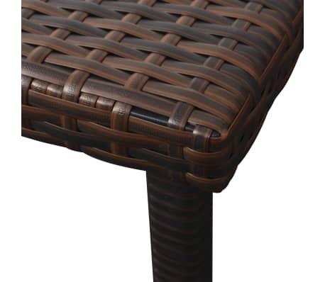 vidaXL Chaise longue avec coussin et table Résine tressée Marron[9/11]