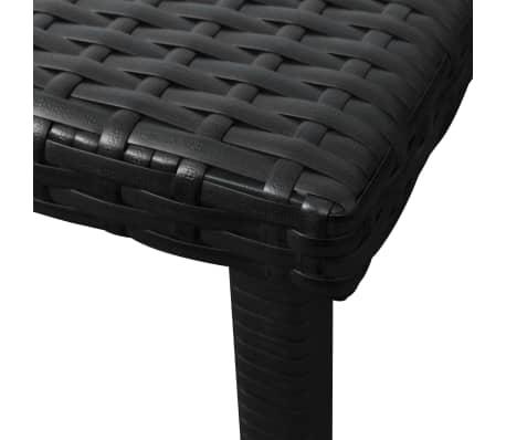 vidaXL Chaise longue avec coussin et table Résine tressée Noir[9/11]