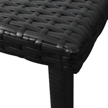 vidaXL Chaise longue avec Table Résine tissée Noir[9/11]