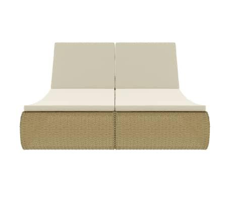 vidaXL Ligbed poly rattan beige[2/9]