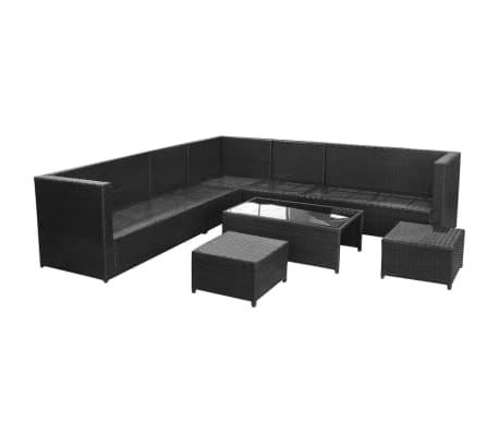 Vidaxl Garden Sofa Set 29 Pieces Poly Rattan Black 3 10
