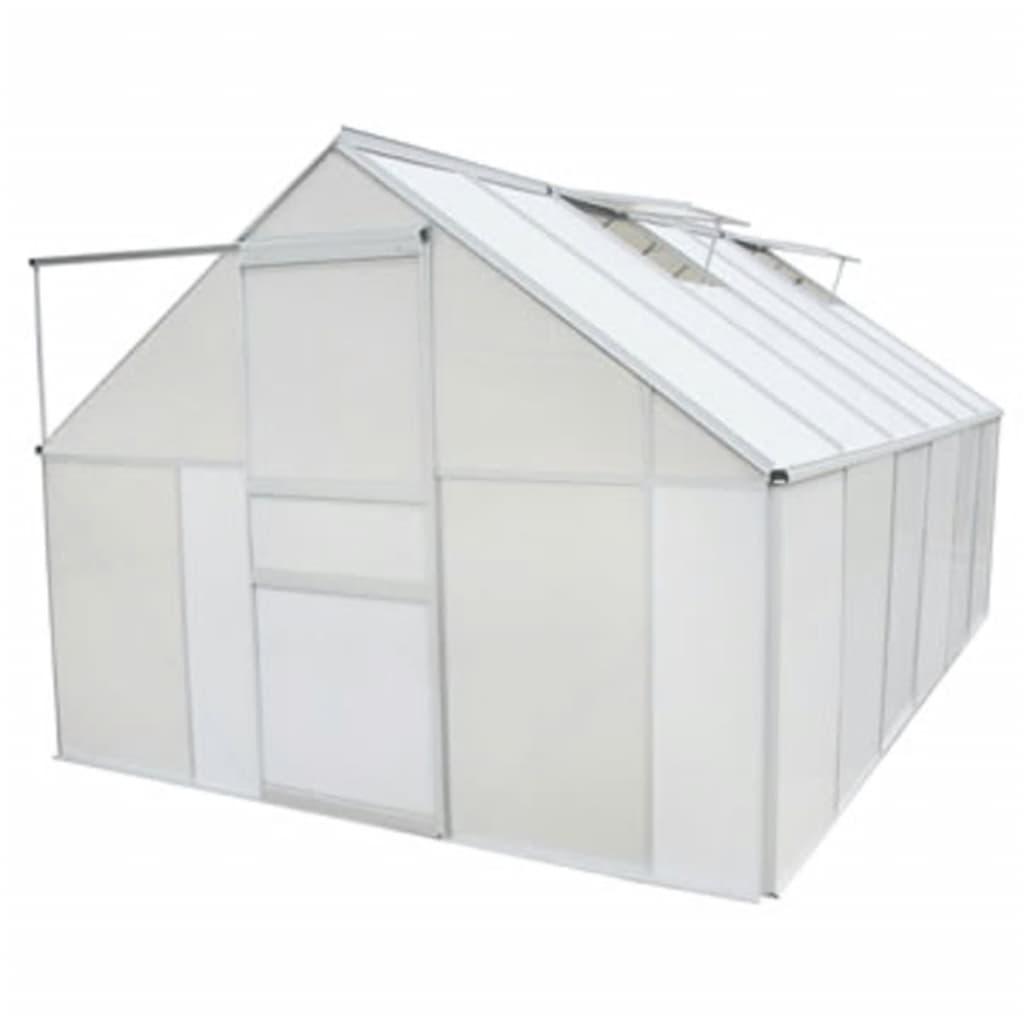 9942904 Gewächshaus Polycarbonat und Aluminium 371×250×195 cm
