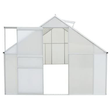 vidaXL Skleník, polykarbonát a hliník, 430x250x195 cm[3/6]