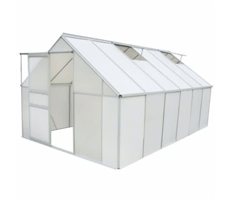 vidaxl gew chshaus polycarbonat und aluminium 490 250 195 cm g nstig kaufen. Black Bedroom Furniture Sets. Home Design Ideas