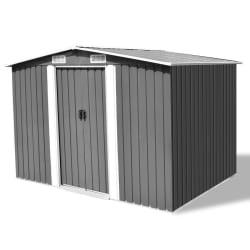 vidaXL Garden Storage Shed Grey Metal 257x205x178 cm