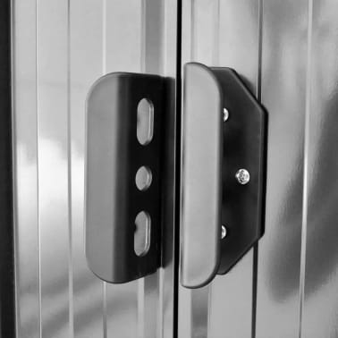 vidaXL Garden Storage Shed Grey Metal 257x205x178 cm[5/8]
