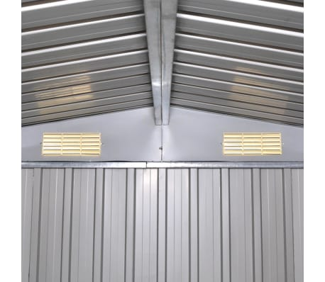 vidaXL Garden Storage Shed Green Metal 257x205x178 cm[7/8]