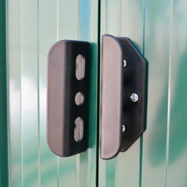 vidaXL Garden Storage Shed Green Metal 257x205x178 cm[5/8]