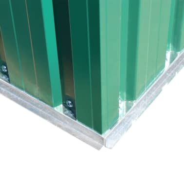 vidaXL Garden Storage Shed Green Metal 257x205x178 cm[6/8]