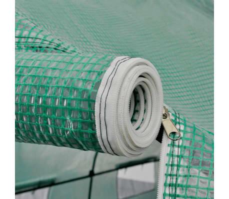 vidaXL Invernadero tienda portátil estructura de acero 18 m²[5/5]