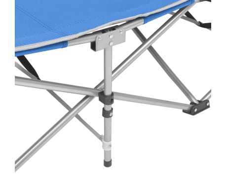 vidaXL Folding Sun Lounger Steel Blue[4/7]