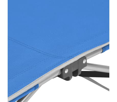 vidaXL Folding Sun Lounger Steel Blue[5/7]