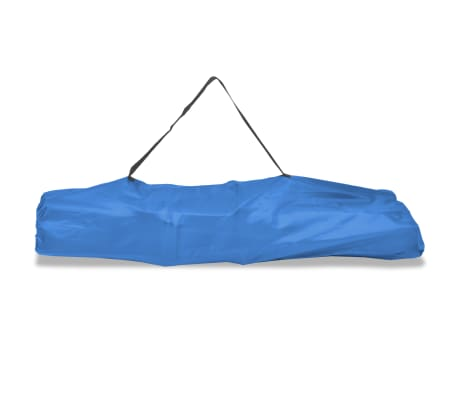 vidaXL Folding Sun Lounger Steel Blue[6/7]