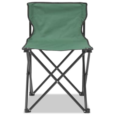 vidaXL Folding Camping Furniture Set 5 Pieces Green Steel 45x45x70 cm[4/10]